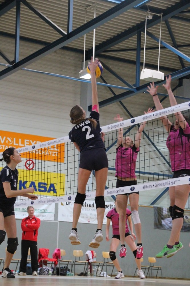 Frauen am Ball (Volleyball)