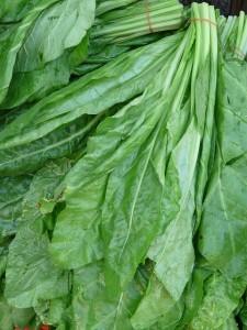 Spinat gibt es nicht nur als gefrorene Würfel, sondern auch als leckeres Blattgemüse. ;-)