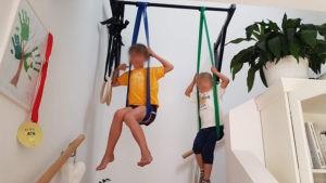 Die Widerstandsbänder eignen sich nicht nur zum Training, sondern waren auch für meine Kids ein super Spielzeug. :-)