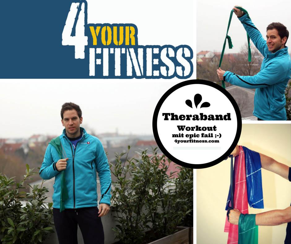 Theraband Workout mit einfachen aber effektiven Übungen