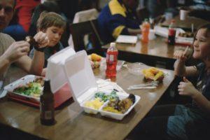 Kinder, Eltern Fast Food