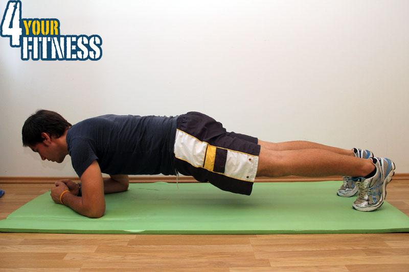 Ein älteres Bild von mir bei der Plank. Sie ist Teil des hier vorgestellten Tabata Workout.