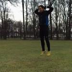 Burpee Challenge zur Fastenzeit - hier ein Burpee während des Sprungs