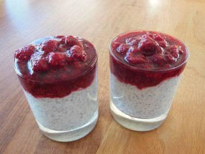 Chia-Beeren Pudding: Lecker!