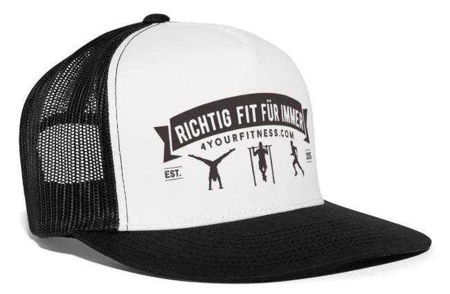 Kappe, richtig fit für immer Slogan, Trucker Cap