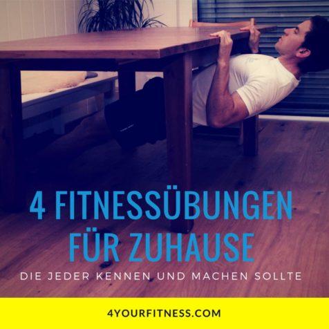 4 Fitnessübungen für zuhause, die jeder kennen und machen sollte