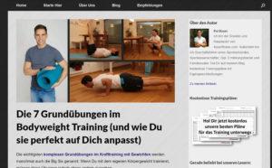 Screenshot meines Artikels auf fitvolution.de