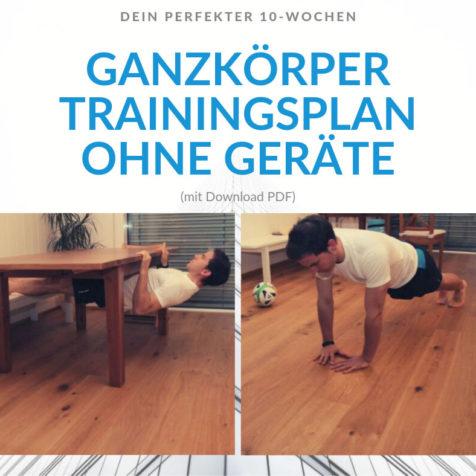 Dein perfekter 10-Wochen Ganzkörper Trainingsplan ohne Geräte (mit Download PDF)