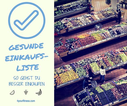Gesunde Einkaufsliste Titelbild