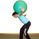 Gymnastikball Übungen - Ballbalance