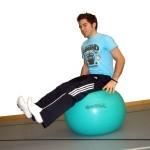 Gymnastikball Übungen - Schwebesitz