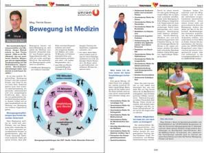 Pat in der 2014 Dezemberausgabe der Zeitung des Herzverein Burgenland