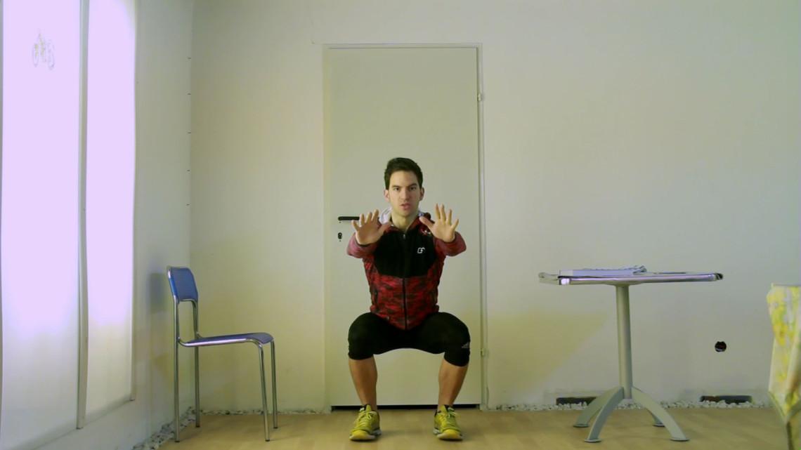 Die Kniebeuge: Eine der vier Übungen in meinem Bodyweight Workout Rainbow