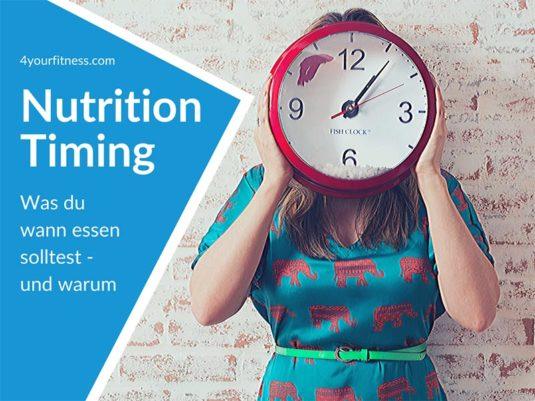Titelbild, Nutrition Timing, Frau, Uhr vor Gesicht