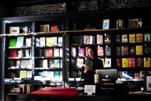 Bücherei, Frau, Buch