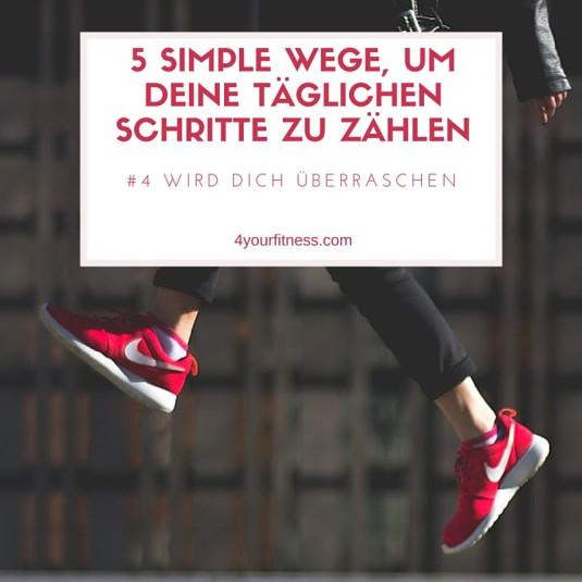Schritte zählen Titelbild