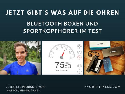 Bluetooth Boxen und Sportkopfhörer Test Titelbild