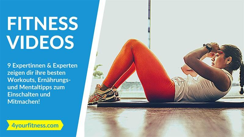 9 kostenlose Fitness Videos von Experten: Einschalten und mitmachen! (mit Trainingsplan)
