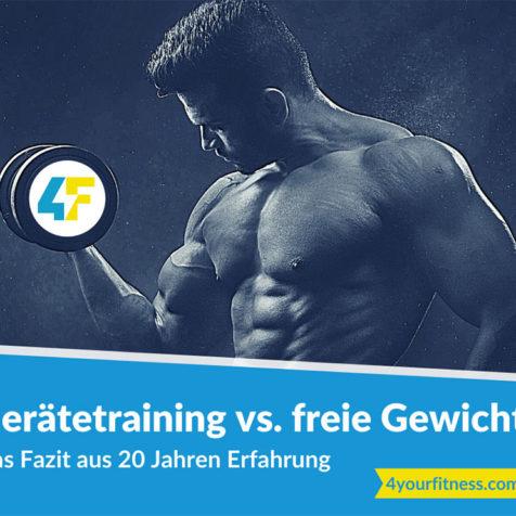 Gerätetraining vs. freie Gewichte: Das Fazit aus 20 Jahren Erfahrung