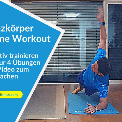 Das effektive Ganzkörper Home Workout mit nur 4 Übungen