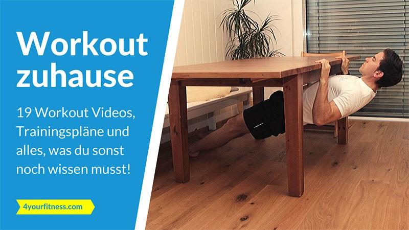 Workout zuhause: 19 Workout Videos, Trainingspläne und alles, was du sonst wissen musst!