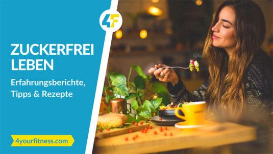 Titelbild, Artikel zuckerfrei leben mit Frau beim Essen