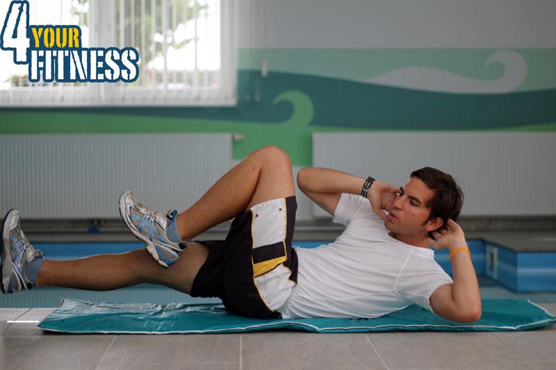 Bauchmuskelübungen für zu Hause - Twist Crunch