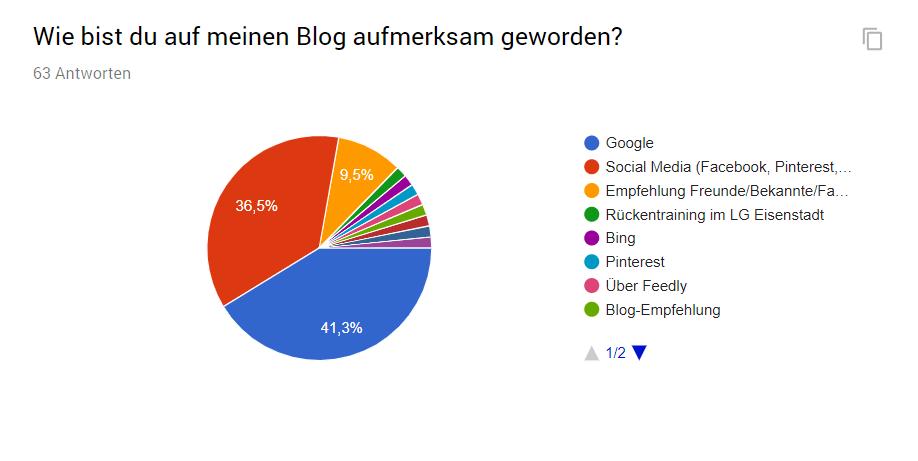Der Großteil meiner regelmäßigen User wurde durch Google auf meinen Blog aufmerksam.